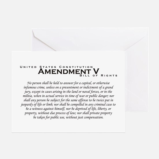 Amendment V Greeting Card