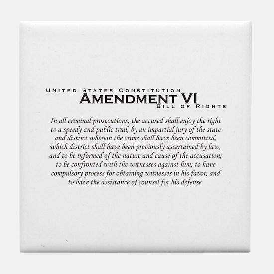 Amendment VI Tile Coaster