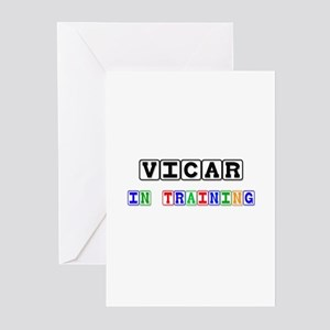 Vicar In Training Greeting Cards (Pk of 10)