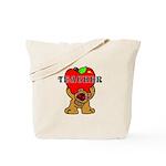 Teachers Apple Bear Tote Bag