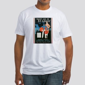 Vintage Airplane Fitted T-Shirt