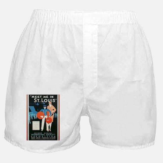 Vintage Airplane Boxer Shorts