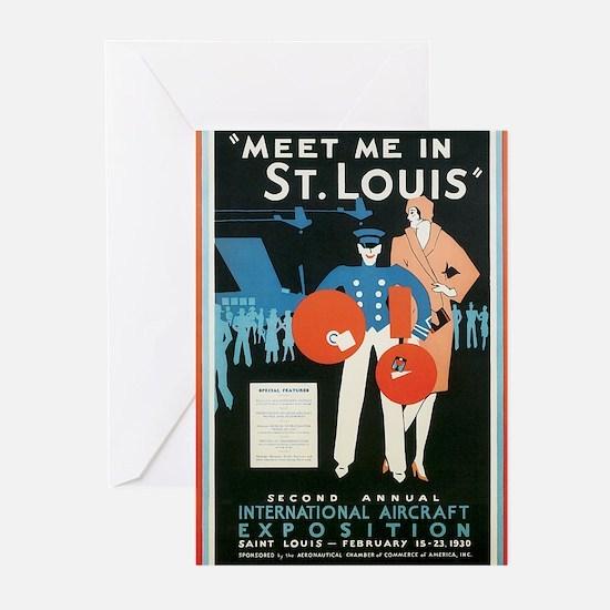 Vintage Airplane Greeting Cards (Pk of 10)