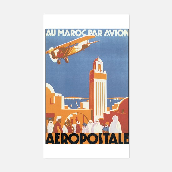 Vintage Airplane Rectangle Decal