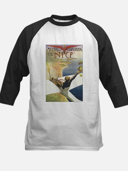 Vintage Airplane Kids Baseball Jersey