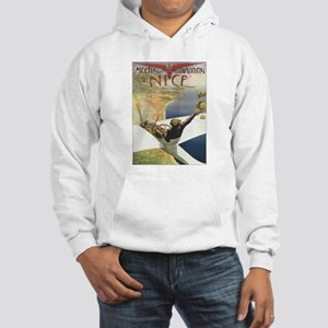 Vintage Airplane Hooded Sweatshirt