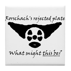 Rorschachs Rejected Plate 5 Tile Coaster