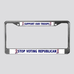 Support Our Troops! License Plate Frame