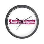 I Celebrate Diversity Wall Clock