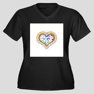 heart shape diamonds in gold around a heart shape