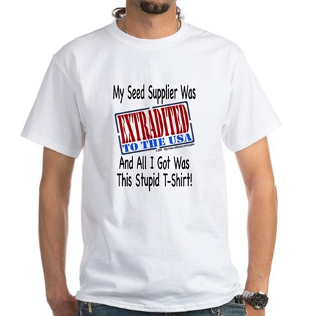 Seed Supplier (no leaf) White T-Shirt