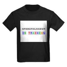 Stomatologist In Training Kids Dark T-Shirt