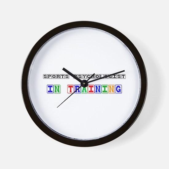 Sports Psychologist In Training Wall Clock