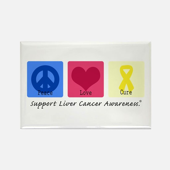 Peace Love Cure LC Rectangle Magnet