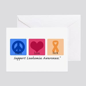 Peace Love Cure Leukemia Greeting Card