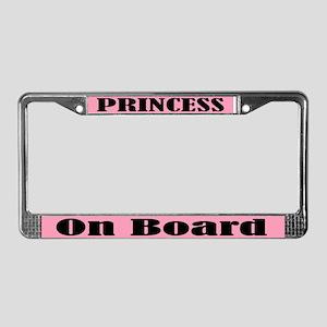 Princess On Board License Plate Frame