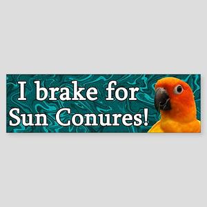 I Brake for Sun Conures Bumper Sticker