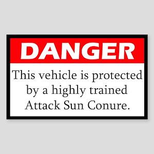 Danger Attack Sun Conure Sticker