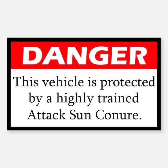 Danger Attack Sun Conure Decal