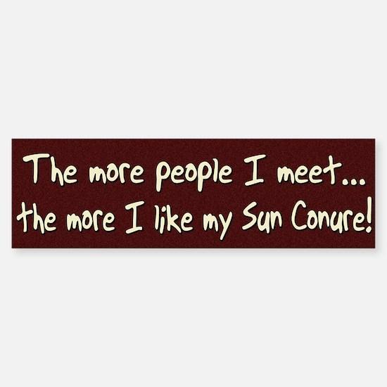 More People Sun Conure Bumper Bumper Bumper Sticker
