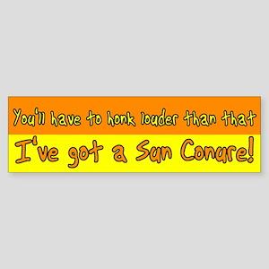 Honk Louder Sun Conure Bumper Sticker