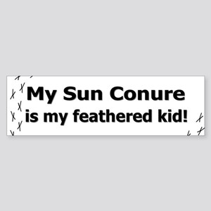 Sun Conure Feathered Kid Bumper Sticker