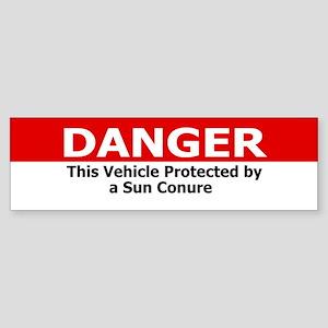 Danger Sun Conure Bumper Sticker