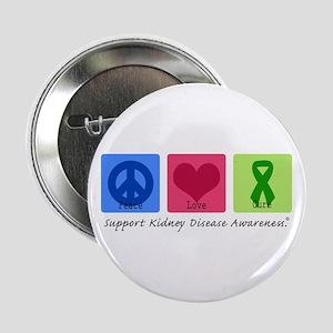 "Peace Love Cure KD 2.25"" Button"