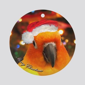 Santa Hat Sun Conure Christmas Ornament