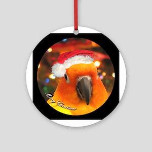 Santa Hat Sun Conure Christmas Ornament