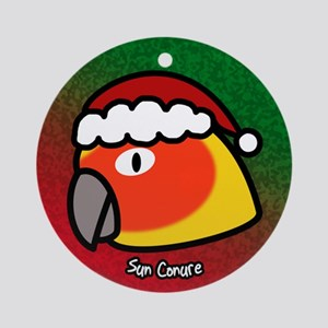 Anime Santa Sun Conure Christmas Ornament