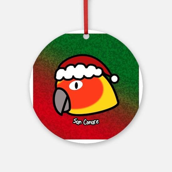 Anime Santa Sun Conure Christmas Ornament