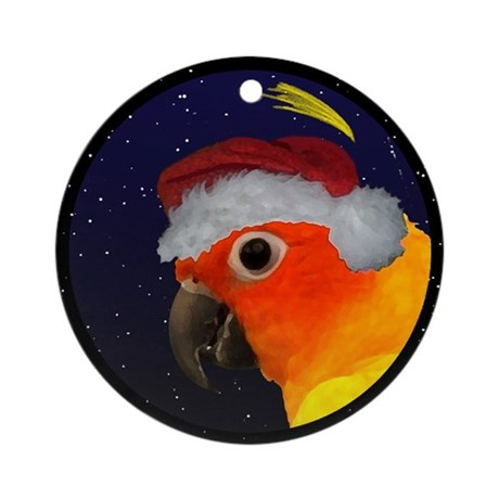 Christmas Night Sun Conure Christmas Ornament