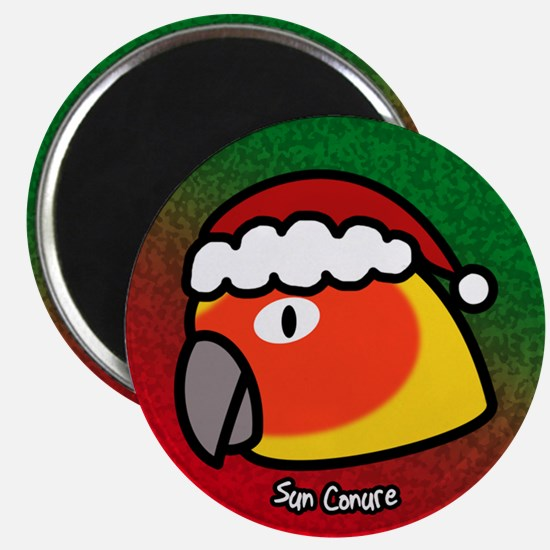 Anime Santa Sun Conure Christmas Magnet