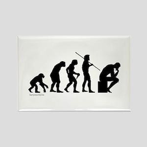 Thinker Evolution Rectangle Magnet (10 pack)