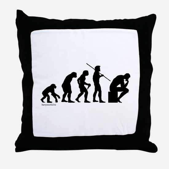 Thinker Evolution Throw Pillow