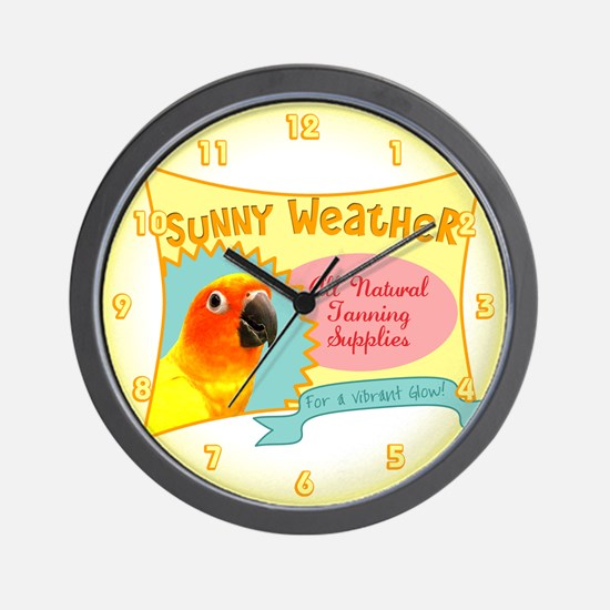 Sunny Weather Sun Conure Clock