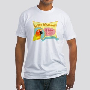 Sunny Weather Sun Conure Fitted T-Shirt