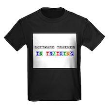 Software Trainer In Training Kids Dark T-Shirt