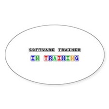 Software Trainer In Training Oval Sticker