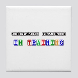 Software Trainer In Training Tile Coaster