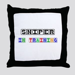 Sniper In Training Throw Pillow