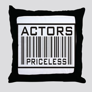 Actors Priceless Barcode Throw Pillow