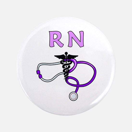 "RN Nurse Medical 3.5"" Button"