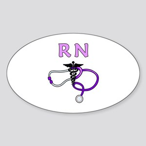 RN Nurse Medical Sticker (Oval)