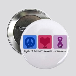 "Peace Love Crohn's 2.25"" Button"