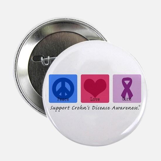 """Peace Love Crohn's 2.25"""" Button"""
