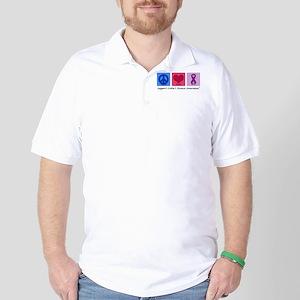 Peace Love Crohn's Golf Shirt