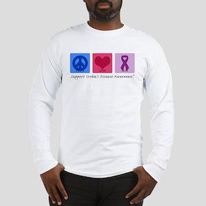 Peace Love Crohn's Long Sleeve T-Shirt