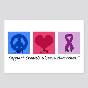 Peace Love Crohn's Postcards (Package of 8)